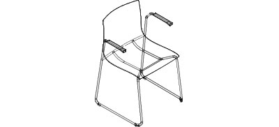 1205 - Arm Chair, with Tablet