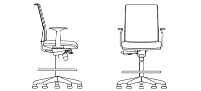 7239S - Drafting Stool Fixed Arms